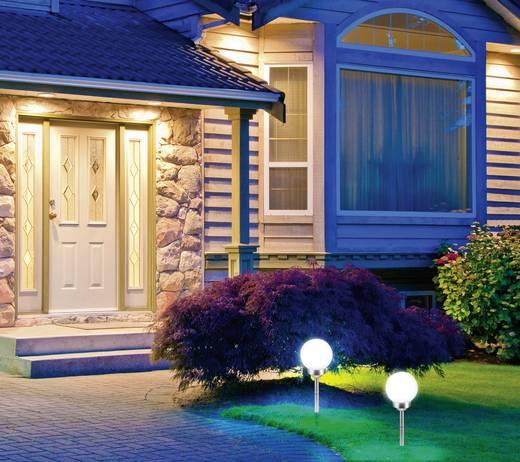 LED-es leszúrható napelemes kerti lámpa, 0,12W, hidegfehér, fehér/ezüst, Renkforce 1290212