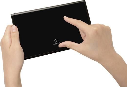 Érintős egérpad, touchpad, fekete, Renkforce