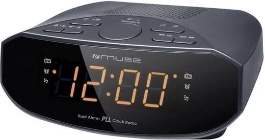 Digitális ébresztőóra, rádiós ébresztőóra LED-es kijelzővel Muse M-15 CR