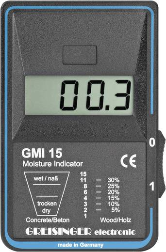 Greisinger GMI 15 anyagnedvesség mérő