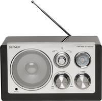 Asztali retro rádió, audio bemenettel, fekete színű Denver TR-61 (12213510) Denver
