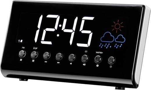 Rádiós ébresztőóra időjárás előrejelzéssel, LED-es kijelzővel Denver CR-718