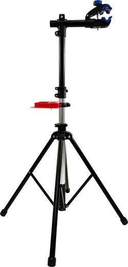 Kerékpárszerelő állvány, alu/műanyag, fekete/piros, Security Plus 29289701