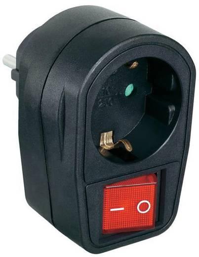 Kapcsolható közbenső dugaszoló aljzat 2 pólusú fekete, Renkforce 1296317