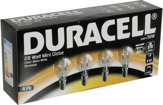Eco halogén Duracell 230 V E14 28 W Melegfehér EEK: n/a Csepp forma Dimmelhető 4 db