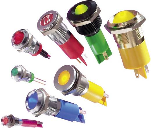 LED-es jelzőlámpa, Sárga 12 V/DC APEM Q6F1CXXY12E