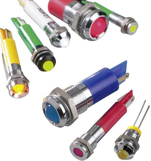 LED-es jelzőlámpa, Sárga 12 V/DC APEM Q16P1CXXY12E
