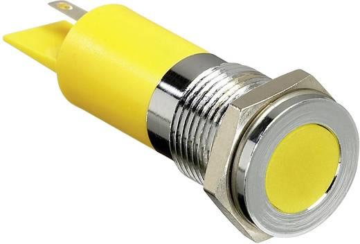 LED-es jelzőlámpa, Sárga 12 V/DC APEM Q14F1CXXY12E