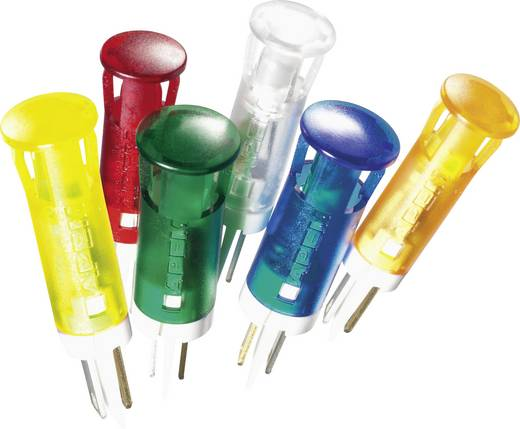 LED-es jelzőlámpa, Piros 12 V/DC APEM QS61XXR12