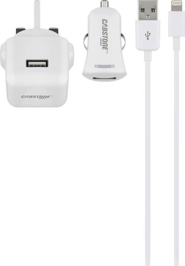 Aljzat dugó Cabstone 43458 2 x USB/Apple Dock dugó Lightning Kimeneti áram (max.) 2100 mA UK adapterrel