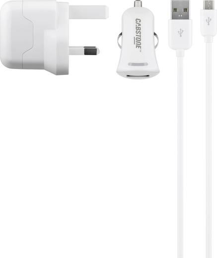 USB-s töltőkészülék Aljzat dugó Cabstone 43456 2 x USB/Mikro USB Kimeneti áram (max.) 2100 mA UK adapterrel