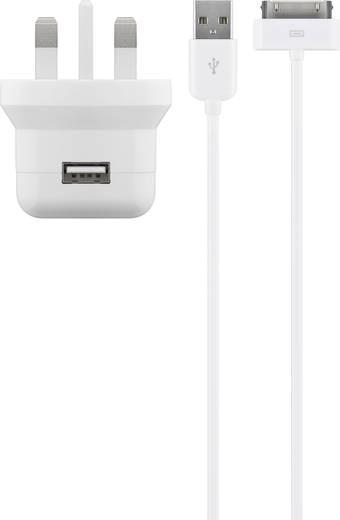 Aljzat dugó Cabstone 43777 1 x USB/Apple dock dugó, 30 pólusú Kimeneti áram (max.) 2100 mA UK adapterrel