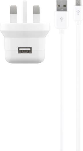 USB-s töltőkészülék Aljzat dugó Cabstone 43772 1 x USB/Mikro USB Kimeneti áram (max.) 2100 mA UK adapterrel