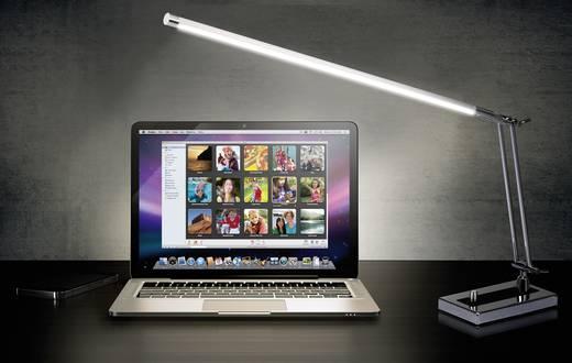 LED-es íróasztali lámpa 6 W hidegfehér, renkforce Modica Króm