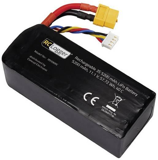 Akkucsomag, LiPo 11.1 V 5200 mAh RC Logger XT60