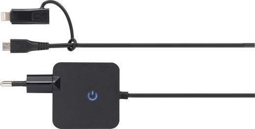 Apple iPad/iPhone/iPod hálózati töltő, USB-s töltő, Apple Lightning csatlakozóval max.2400 mA VOLTCRAFT SPAS-2400/LC+MU