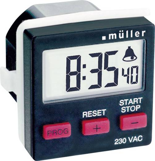 Visszaszámláló időzítő kapcsoló óra, beépíthető, Müller TC 14.21 230 V/AC 8A