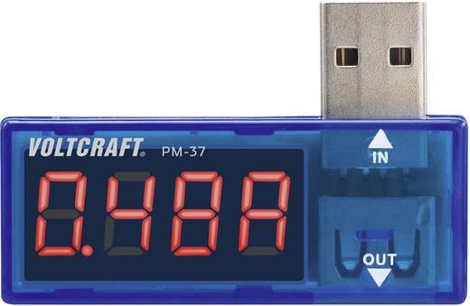 USB-s multiméter, áram és feszültségmérő panelműszer VOLTCRAFT PM-37 CAT I