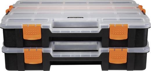 Rendszerező dobozkészlet, 2 részes, 15 rekesz, 375 x 290 x 67 mm, Basetech