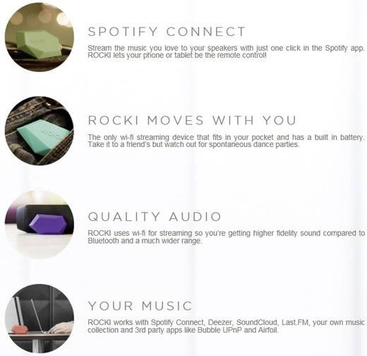 USB Streaming audio lejátszó, zöld színű Rocki RK-P101-02