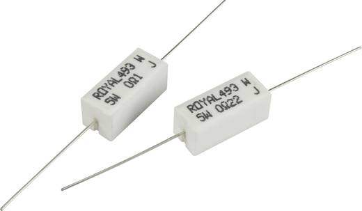 Nagy terhelhetőségű ellenállás 10 Ω Axiális kivezetéssel 5 W Royalohm PRW05WJW100B00 1 db