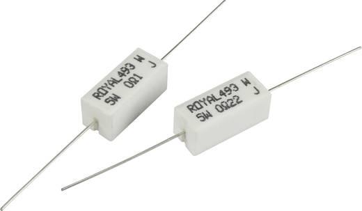 Nagy terhelhetőségű ellenállás 6.2 Ω Axiális kivezetéssel 5 W Royalohm PRW05WJW62JB00 1 db