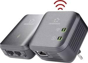 Powerline WLAN Starter Kit, konnektoros internet átvivő készlet 500 Mbit/s, Renkforce PL500D WIFI Renkforce