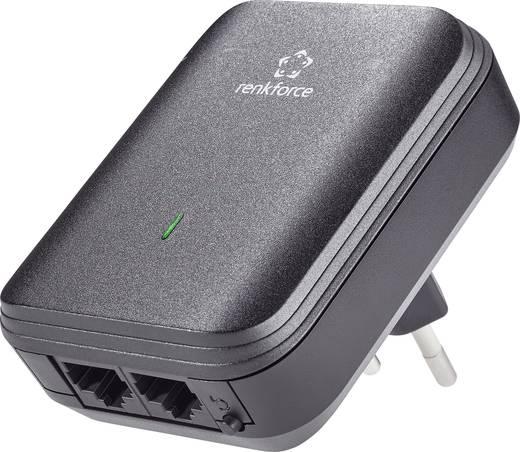Powerline, konnektoros internet átvivő bővítő egység 500 Mbit/s, Renkforce PL500D Duo