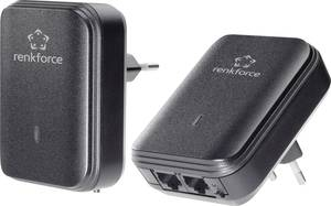 Powerline Starter Kit, konnektoros internet átvivő készlet 500 Mbit/s, Renkforce PL500D Duo (RF-3897933) Renkforce