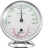 Analóg hőmérő és légnedvesség mérő, alu, renkforce 6510 (6510 Alu) Renkforce