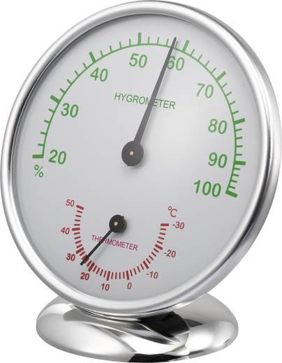 Analóg hőmérő és légnedvesség mérő, alu, renkforce 6510
