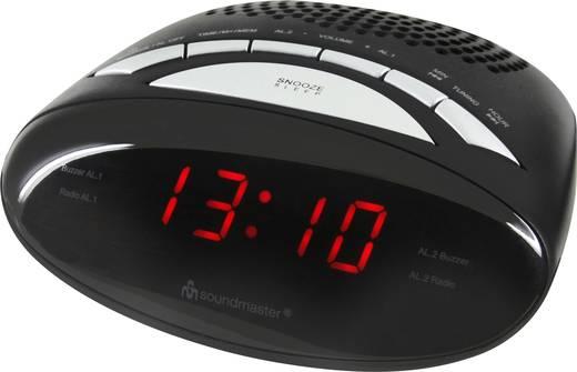 Rádós ébresztőóra URH, fekete, SoundMaster UR101SW
