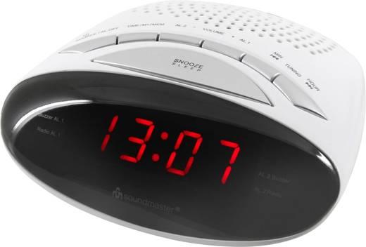 Rádós ébresztőóra URH, fehér, SoundMaster UR101WE