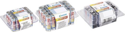 58 darabos alkáli elemkészlet 10x 9V, 24x AAA, 24x AA, Conrad Energy