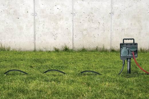 Leszúrható kerti elosztó, 2 részes, fekete/zöld, Brennenstuhl 1154430