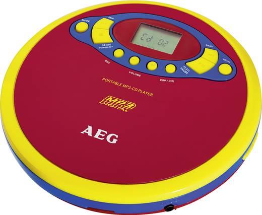 Gyermek discman, hordozható MP3 CD lejátszó, fejhallgatóval CD, CD-R, CD-RW, MP3, piros, sárga színű AEG CDP 4228