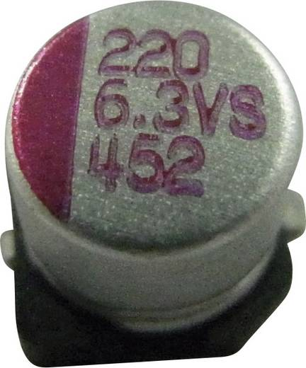 Elektrolit kondenzátor SMD 330 µF 4 V/DC 10 % (Ø x Ma) 6.3 mm x 5.8 mm PVS337M004S0ANEA1K 1 db
