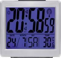 Rádióvezérelt DCF ébresztőóra, beltéri hőmérővel, kék háttérvilágítással Eurochron EFW 750 Eurochron