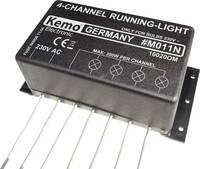 Futófény modul, 4 csatornás, kész modul, 230 V, Kemo M011N Kemo