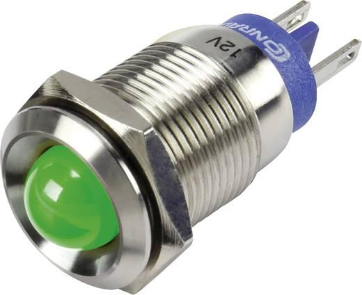 LED-es jelzőlámpa, Zöld 12 V GQ16B-D/J/G/12V/S