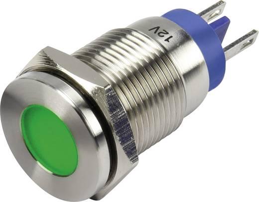 LED-es jelzőlámpa, Zöld 12 V GQ16F-D/J/G/12V/N