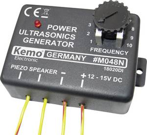 Ultrahang generátor modul, 12V, max. 25m, 10-40 kHz, Kemo M048 Kemo