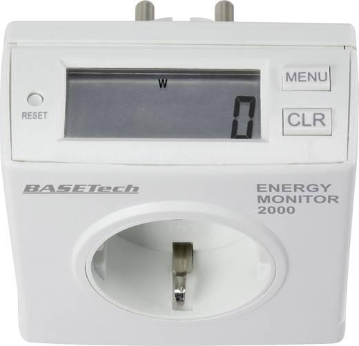 Energiafogyasztásmérő, LCD 0,00-9999,99 kWh, Basetech Energy Monitor 2000