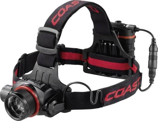 LED-es fejlámpa, elemes, 363 g, fekete/piros, Coast HL8 138488