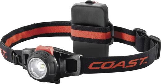 LED-es fejlámpa, elemes, 125 g, fekete/piros, Coast HL7 140116
