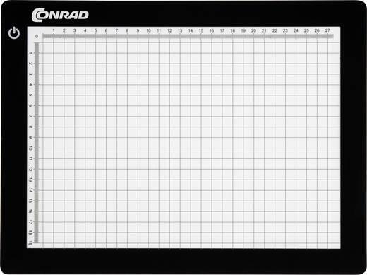 Világító- és szerelőlap, fekete, 21 x 29,5 cm, Conrad KB-A4