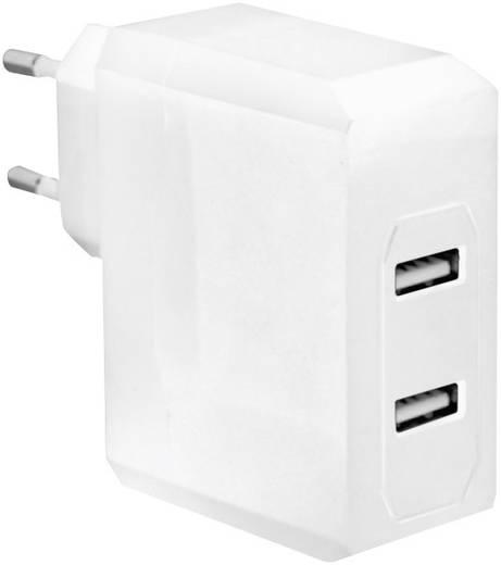 Hálózati USB töltő, 2 részes aljzattal max.3400mA LogiLink PA0094