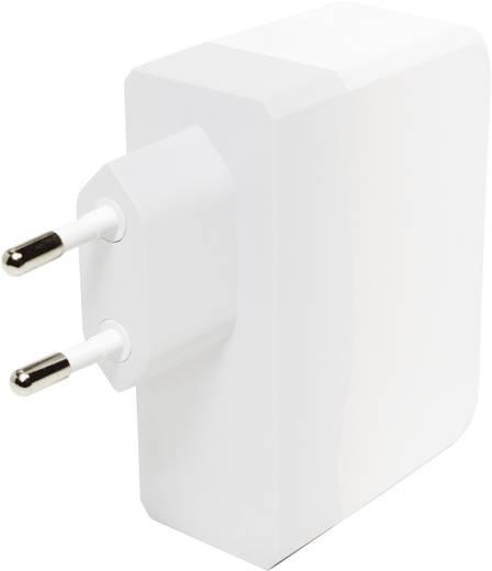 Hálózati USB töltő, 4 részes aljzattal max.4900mA LogiLink PA0096