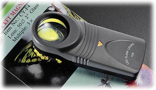 LED-es zseb nagyító, kézi nagyító 10x-es nagyítással, 10 x 27 mm, Toolcraft 1303081