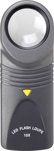 LED-es zseb nagyító 10x-es nagyítással, 10 x 27 mm, Toolcraft 1303081